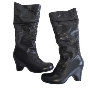 Miz Mooz Jasmine Black Leather Tall boots size 8